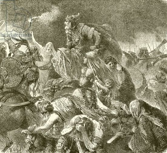 Attila at the Battle of Chalons