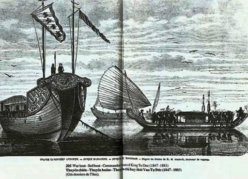 Một số loại thuyền đi biển của nhà Nguyễn trong tư liệu nước ngoài ( tài liệu Viện Sử học)
