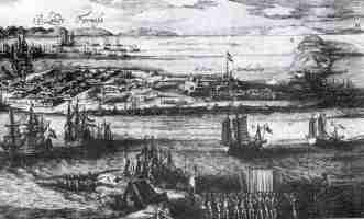 landing in Taiwan in 1662