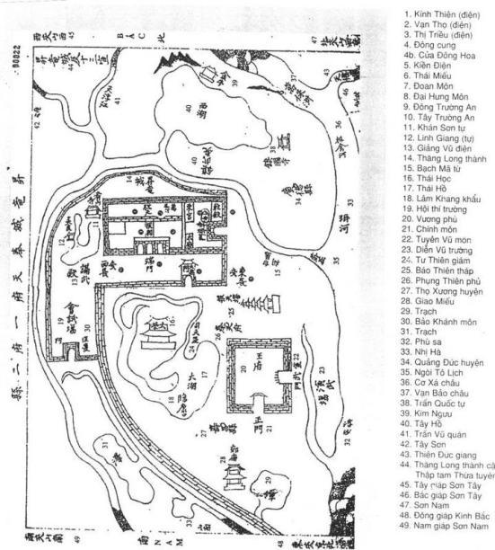 Bản đồ thời Lê Vẽ năm Gia Long thứ 9 (1810)  -nguồn: khampha.vietnam.vn