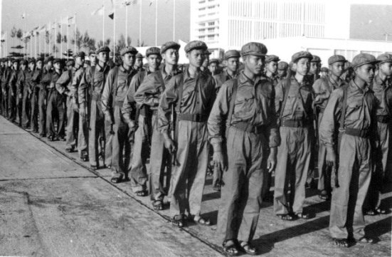 Khmer Rouge soldiers at Pochentong International Airports