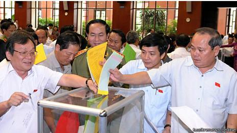 Đa số đại biểu Quốc hội Việt Nam là đảng viên đảng cộng sản