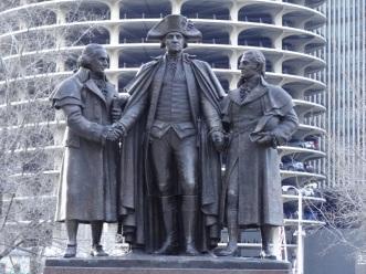đài tưởng niệm Salomon, George Washington và Robert Morris