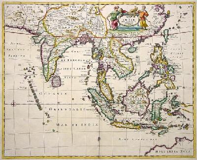 """Bản đồ """"Đông Ấn Độ"""" khoảng 1662"""