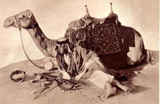"""""""Lawrence xứ Ả rập"""" tại nam Jordan. T. E. Lawrence với chú lạc đà """"Jedha"""""""