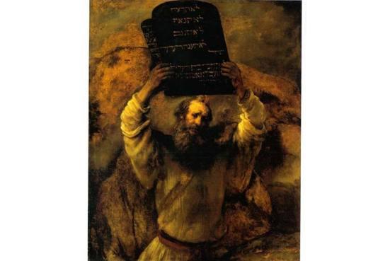 """Môsê nhận """"Mười điều răn"""" khắc trên hai phiến đá, của Đức Chúa Trời trao riêng cho dân Do Thái. Kinh Thánh, Xh 19, 3-6, chép: """"Ông Môsê lên gặp Thiên Chúa. Từ trên núi, Đức Chúa gọi ông và phán: 'Ngươi sẽ nói với nhà Giacóp, sẽ thông báo cho con cái Israel thế này: …giờ đây, nếu các ngươi thực sự nghe tiếng Ta và giữ giao ước của Ta, thì giữa hết mọi dân, các ngươi sẽ là sở hữu riêng của Ta. Vì toàn cõi đất đều là của Ta. Ta sẽ coi các ngươi là một vương quốc tư tế, một dân thánh. Đó là những lời ngươi sẽ nói với con cái Israel""""."""