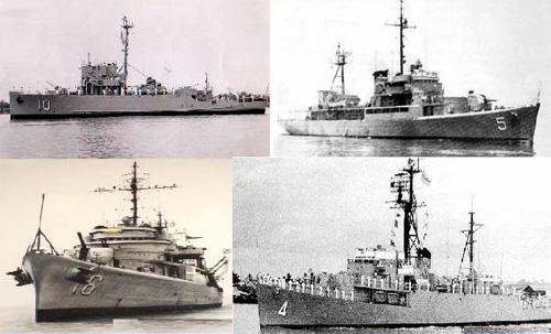 Bốn chiến hạm của Việt Nam Cộng Hòa ra chiến đấu bảo vệ quần đảo Hoàng Sa vào tháng 1.1974