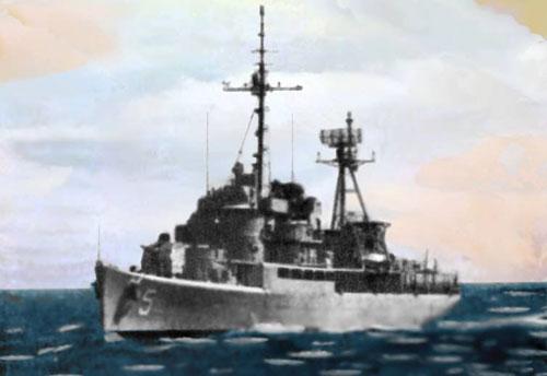Tuần dương hạm Trần Bình Trọng (HQ-5) là soái hạm bên phía Việt Nam Cộng Hòa