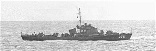 Chiếc Kronstadt số hiệu 274 của Trung Quốc tham gia Hải chiến Hoàng Sa