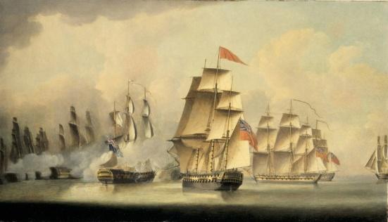 Battle of Malacca Straits. Feb. 15th 1804- Robert Dodd Robert Dodd (1748-1815)