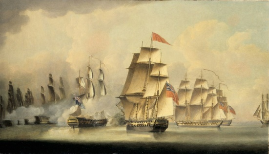 Battle of Malacca Straits. Feb. 15th 1804- Robert Dodd Robert Dodd (1748-1815)
