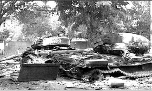 Xe tăng Grudia bị phá hủy ở Tskhinvali