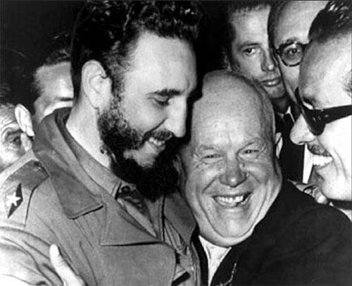Lãnh tụ Cuba, Fidel Castro và nhà lãnh đạo Liên Xô Nikita Khrushchev