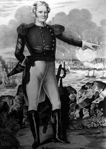 Tướng Scott trong trận Veracruz (1838).
