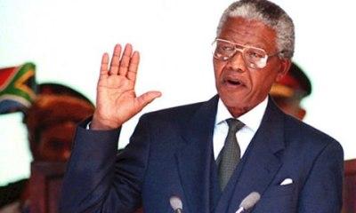 Ông Mandela nhậm chức Tổng thống Nam Phi năm 1994.