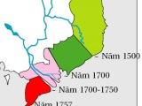 Lịch sử hình thành của miền nam ViệtNam