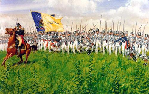 Scott chỉ huy lữ đoàn bộ binh xung phong trong trận chiến Chippawa.