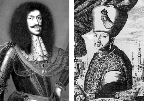 Leopold I (trái) và Mehmed IV.