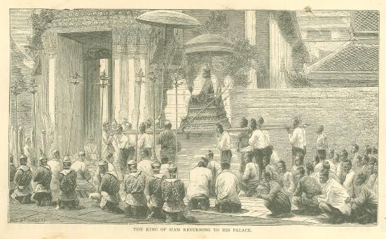 King of Siam returning to his palace