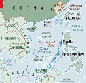 The Chinese U-shaped line in the South China Sea