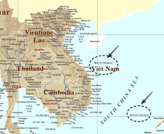 Phần lãnh thổ Việt Nam với địa danh quần đảo Hoàng Sa, Trường Sa  tại website của Ủy ban Địa danh Úc (www.icsm.gov.au/cgna/ungegn.html)