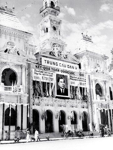 Vận động trưng cầu dân ý năm 1955 đưa Ngô Đình Diệm lên nắm quyền