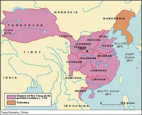 Cương vực lãnh thổ Trung quốc thời Đường