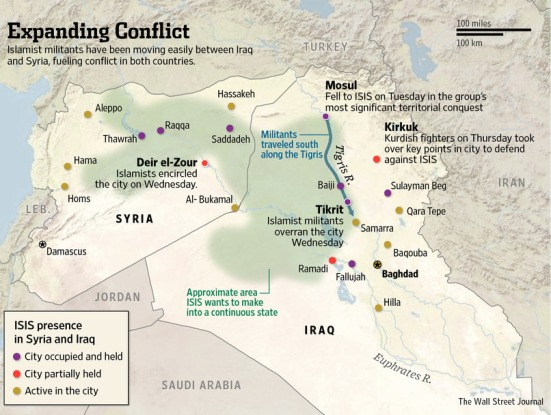 Khu vực lãnh thổ do Nhà nước Hồi Giáo (IS) kiểm soát
