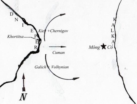 Bản đồ hành quân của lien hiệp Nga
