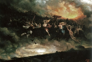 """""""The ride to Asgard"""" by Peter Nicolai Arbo. 1872"""