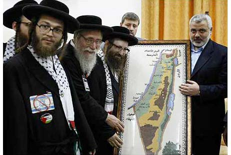 Những người Neturei Karta gặp Phó thủ lĩnh Haniyeh của Hamas (Palestine)