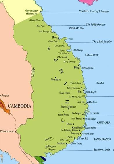 Các Địa-Danh Việt-Nam ngày nay va Địa-Danh Chiêm-Thành lúc xưa.