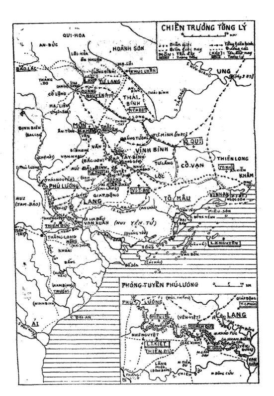 Bản-đồ IIIb - Mặt trận Phú-lương