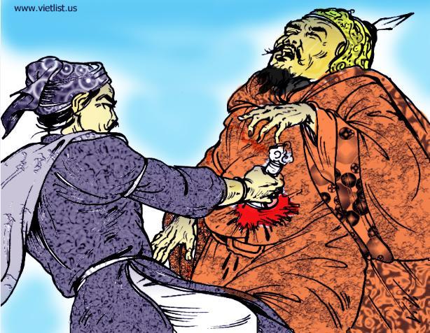Hình minh họa Trịnh Tùng giết Mạc Mậu Hợp- vietlist.us