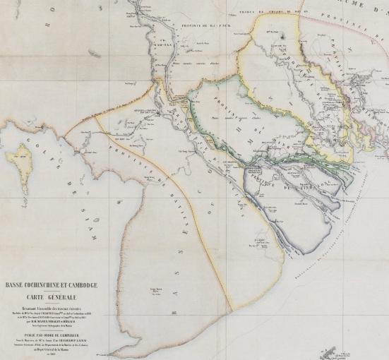 Lãnh thổ Nam Kỳ lục tỉnh sau cuộc chiến chính thức thuộc về nhà Nguyễn cho đến năm 1862, cùng vương quốc Cao Miên trước năm 1863