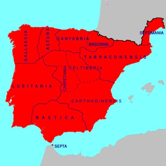 Vương quốc Visigoth năm 700: