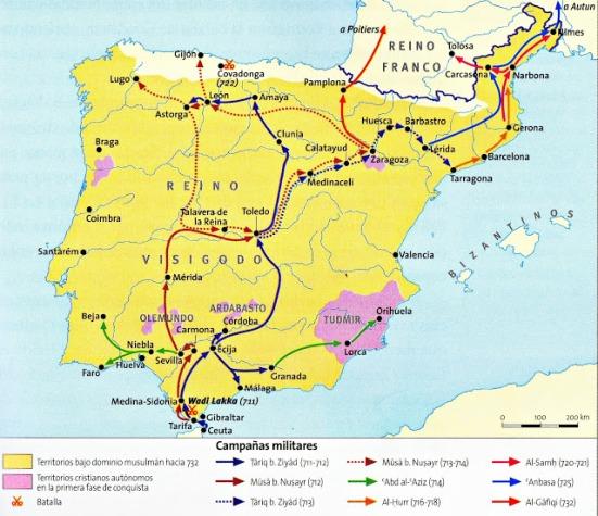 Các chiến dịch Hồi giáo ở Tây Ban Nha và miền Nam Pháp