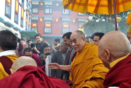 Đức Đạt Lai Lạt Ma tuyên bố có thể sẽ không tái sinh.  (ảnh: Sanjay Baid/European Pressphoto Agency)