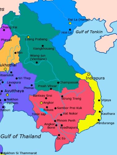 Đại Việt- Champa vào khoảng 1400 (ảnh wiki)
