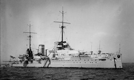 Ảnh của chiếc tuần dương hạm chủ lực von Der Tann của Đức - chiếc có công lớn trong việc bắn hạ chiếc HMS Queen Mary trong trận Jutland