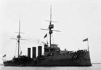 Chiếc tuần dương hạm bọc thép xấu xố HMS Black Prince, chiếc này đi vào dòng tầu của Đức trong trận Jutland nên bị bắn chìm - toàn bộ thủy thủ đoàn anh dũng hy sinh