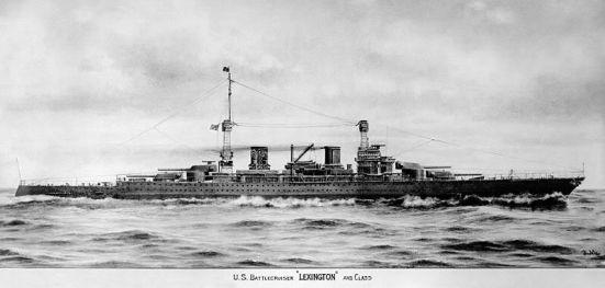 Tầu tuần dương hạm chủ lực lớp Lexington năm 1919