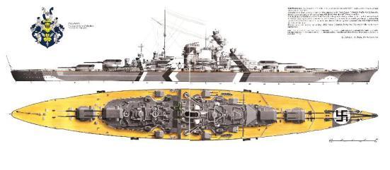 Chiếc Bismarck - thiết giáp hạm lừng danh của Đức được đóng trong thời gian trước WWII