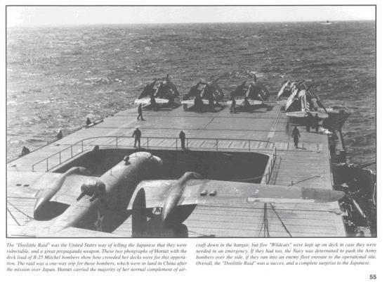 Các máy bay B-25 bắt đầu cất cánh, đây là chuyến bay một chiều, đa số các chiếc máy bay này hạ cánh ở lãnh thổ Trung Quốc