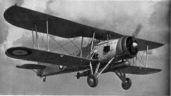 Ảnh một chiếc máy bay phóng ngư lội Fairey Swordfish của Lực lượng Hải quân Hoàng gia