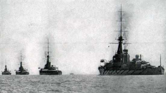 Các thiết giáp hạm lớp Orion trong đội hình