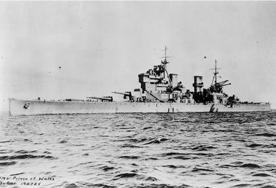 Ảnh chiếc HMS Prince of Wales của Hải quân Anh quốc