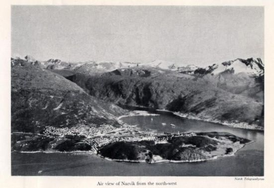 Ảnh chụp cảng Narvik trong thời gian chiến tranh thế giới thứ II