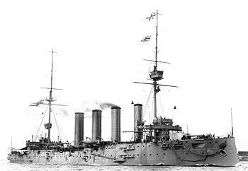Ảnh chiếc tuần dương - kỳ hạm bọc thép SMS Scharnhorst trong hải đội của von Spee
