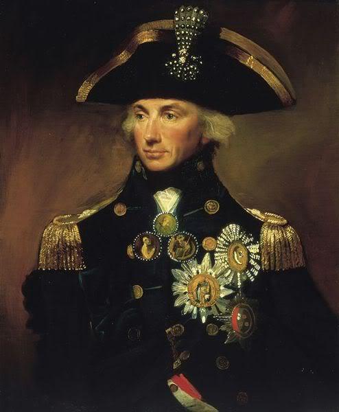 Tranh chân dung Đô đốc Nelson (đánh trận nào cũng đại thắng, nhưng đánh một trận mất một cánh tay, đánh trận nữa thì mất một con mắt, rồi nữa nữa thì mất mạng)